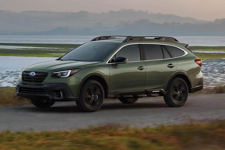 2020 Subaru Outback on the Road