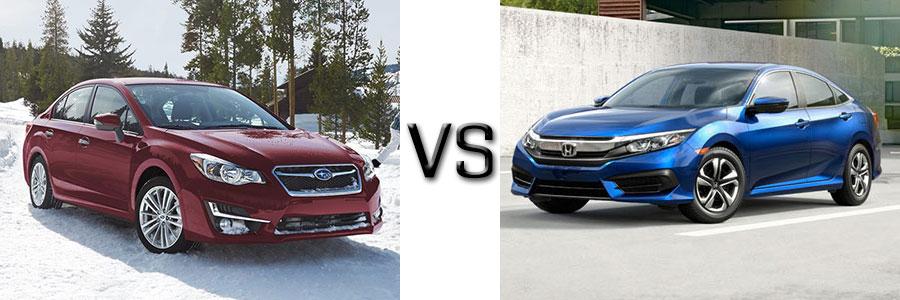 2016 Subaru Impreza vs Ford Focus