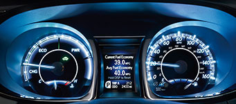 2017 Toyota Avalon Hybrid Customized Hybrid Gauges