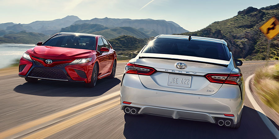 2019 Toyota Camry on the Road