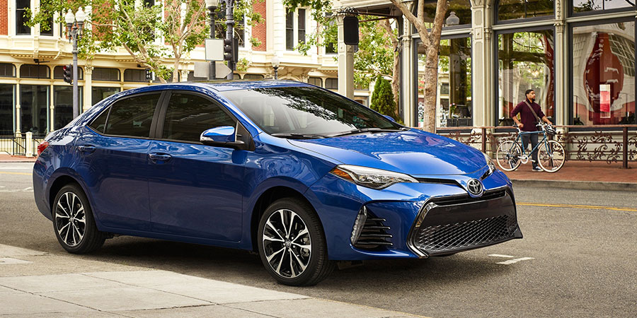 2019 Toyota Corolla Sedan on the Road