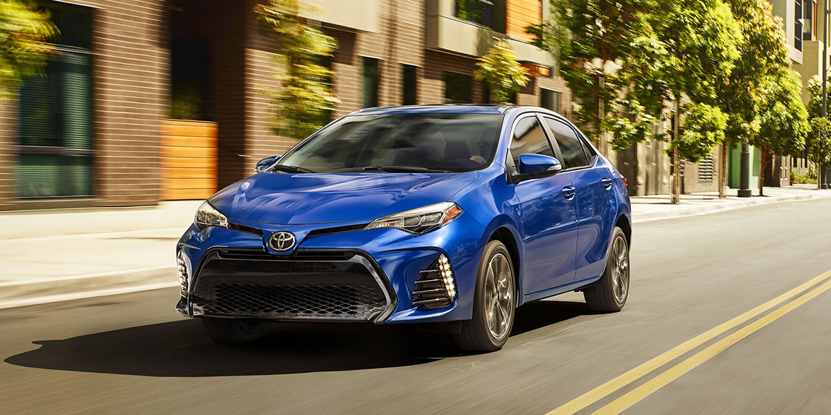 2019 Toyota Corolla Sedan on the Road