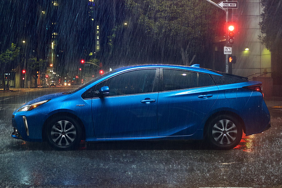 2020 Toyota Prius on the Road