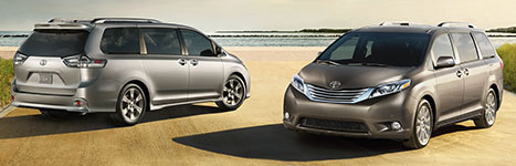 2017 Toyota Sienna Wide Choice of Trims