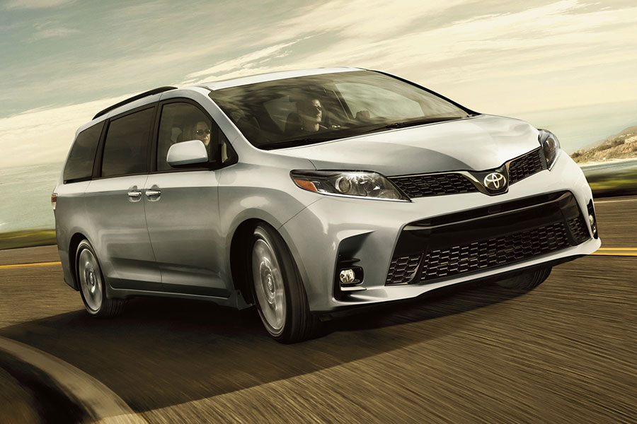 2020 Toyota Sienna on the Road