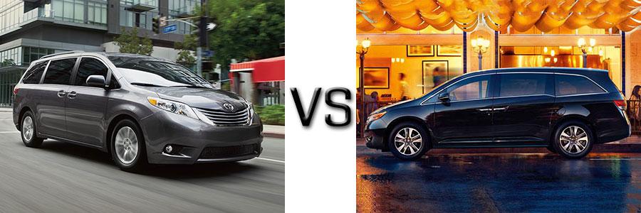 2017 Toyota Sienna vs Honda Odyssey
