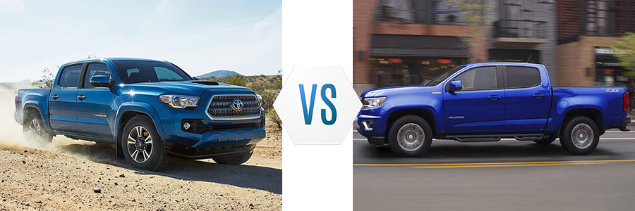 2017 Toyota Tacoma vs Chevrolet Colorado
