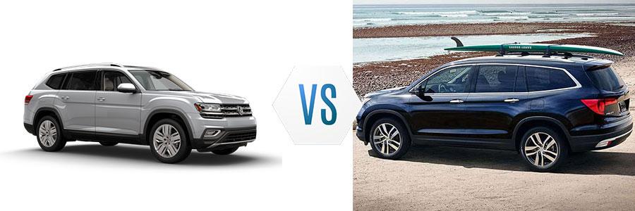 2018 Volkswagen Atlas vs Honda Pilot