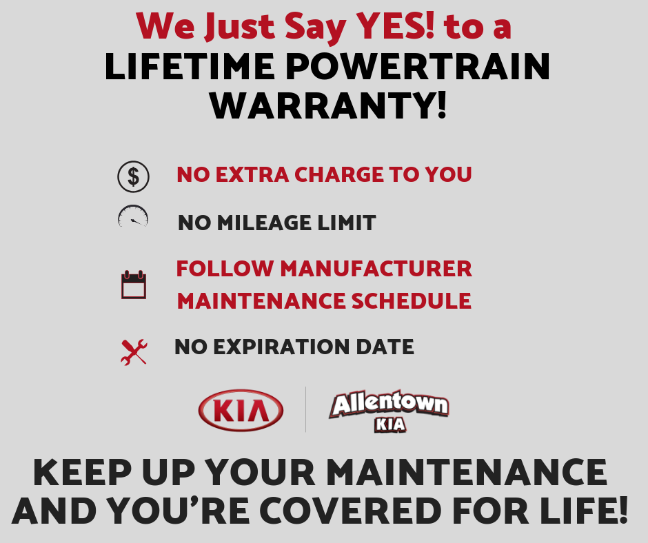 Allentown Kia's Lifetime Powertrain Warranty