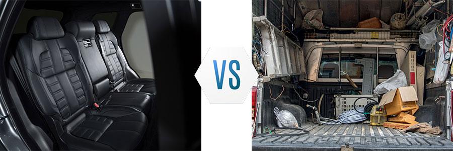 SUV Passenger vs Truck Cargo
