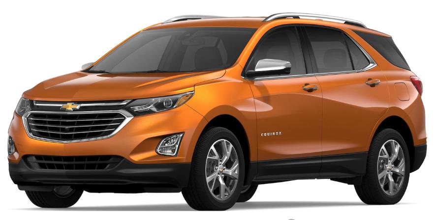 2019 Chevrolet Equinox Orange Burst Metallic