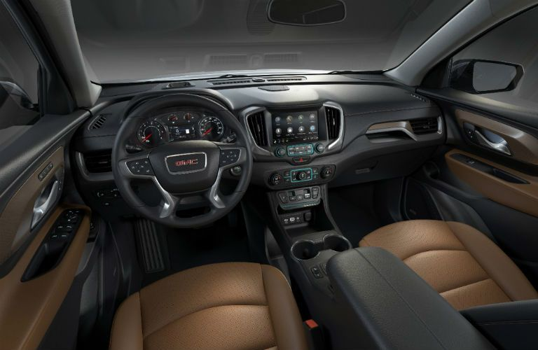 front seats and dashboard in 2018 GMC Terrain