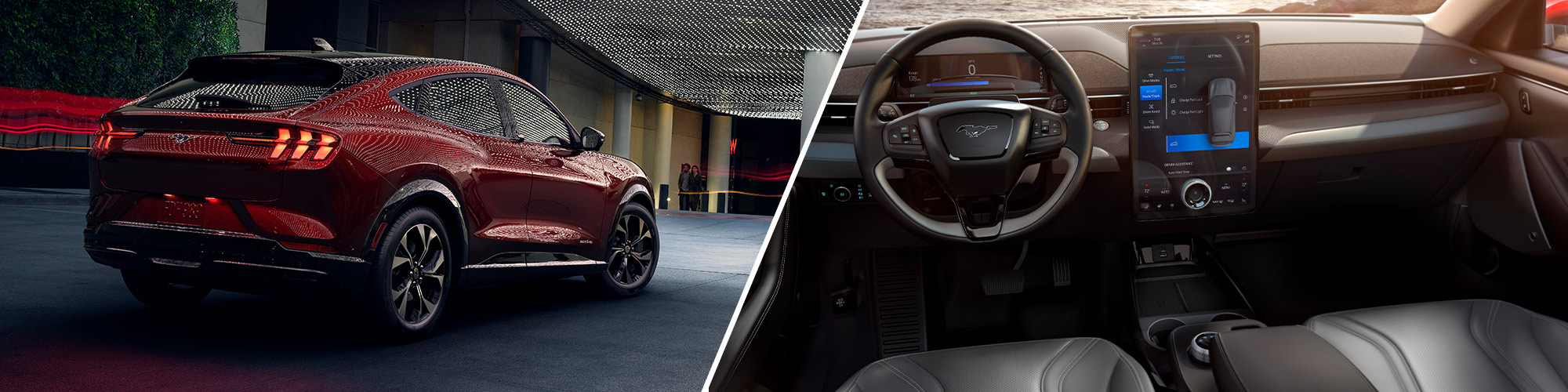 2021 Ford Mustang Mach-E Collage Back Interior