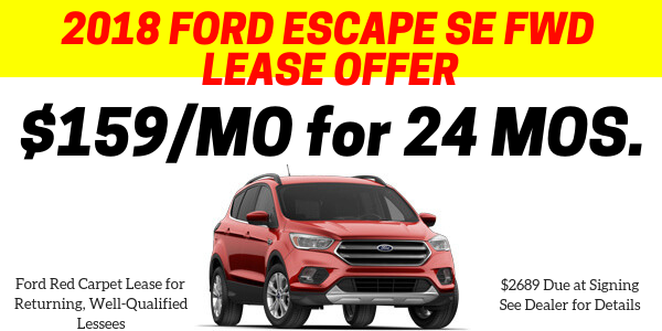 End of Year Escape Lease Offer