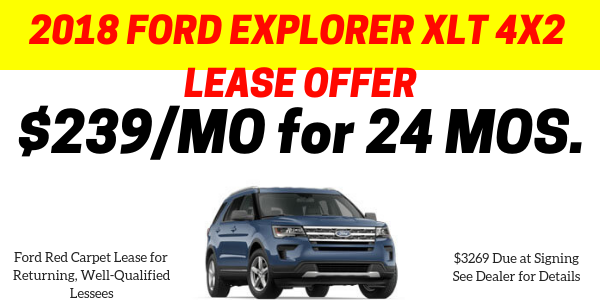 End of Year Explorer Lease Offer