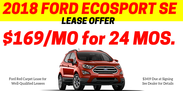 End of Year EcoSport Lease Offer