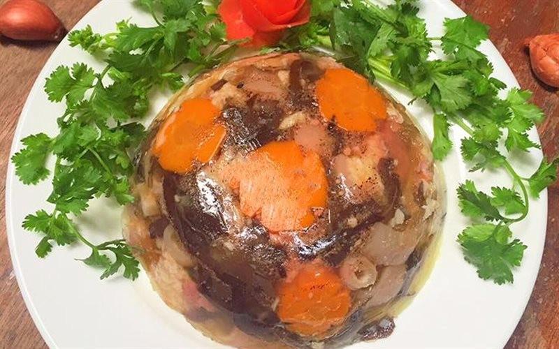 Thịt nấu đông Tết âm lịch ở Miền Bắc