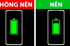 Đừng sạc điện thoại của bạn tới 100%