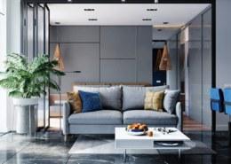 Muốn thiết kế biệt thự theo tone màu xám xu hướng 2021 thì nên kết hợp với màu sắc nào?