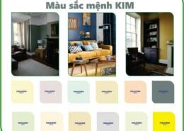 Các màu sắc phong thủy dành cho mệnh Kim?