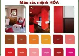 Thiết kế nội thất căn hộ cho người mệnh Hỏa nên dùng những màu nào là hợp phong thủy?