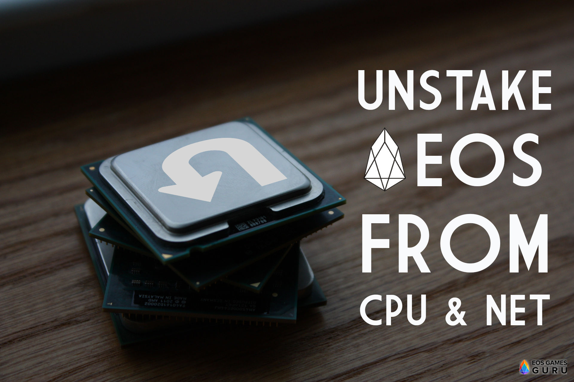 How To Unstake CPU/NET on EOS