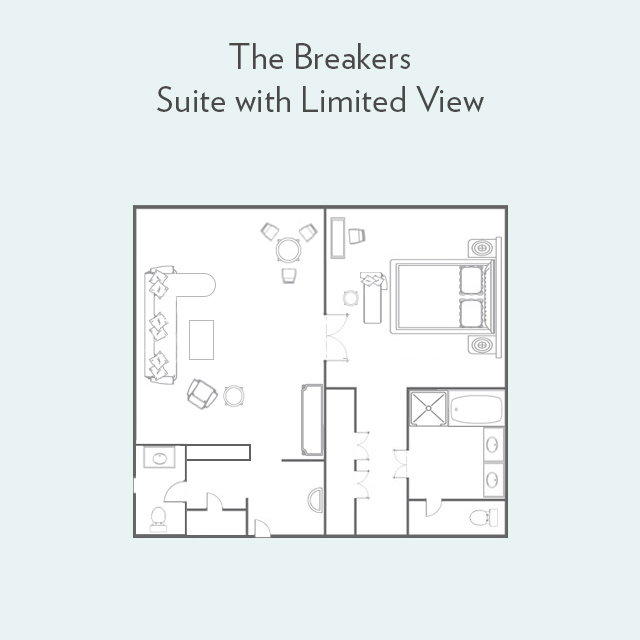 Floor plan for Suite with Limited View