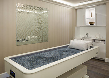 Quartz massage table at The Spa at The Breakers