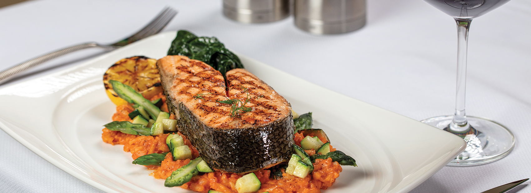 Grilled Atlantic Salmon at Flagler Steakhouse at The Breakers