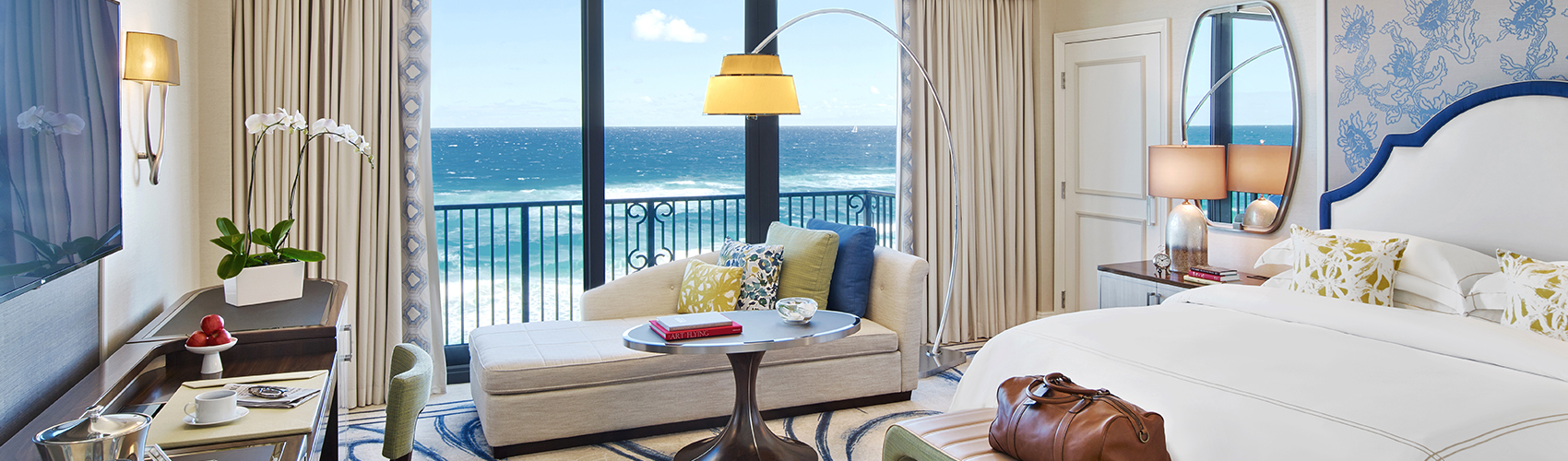 Oceanfront guest room at The Breakers Palm Beach