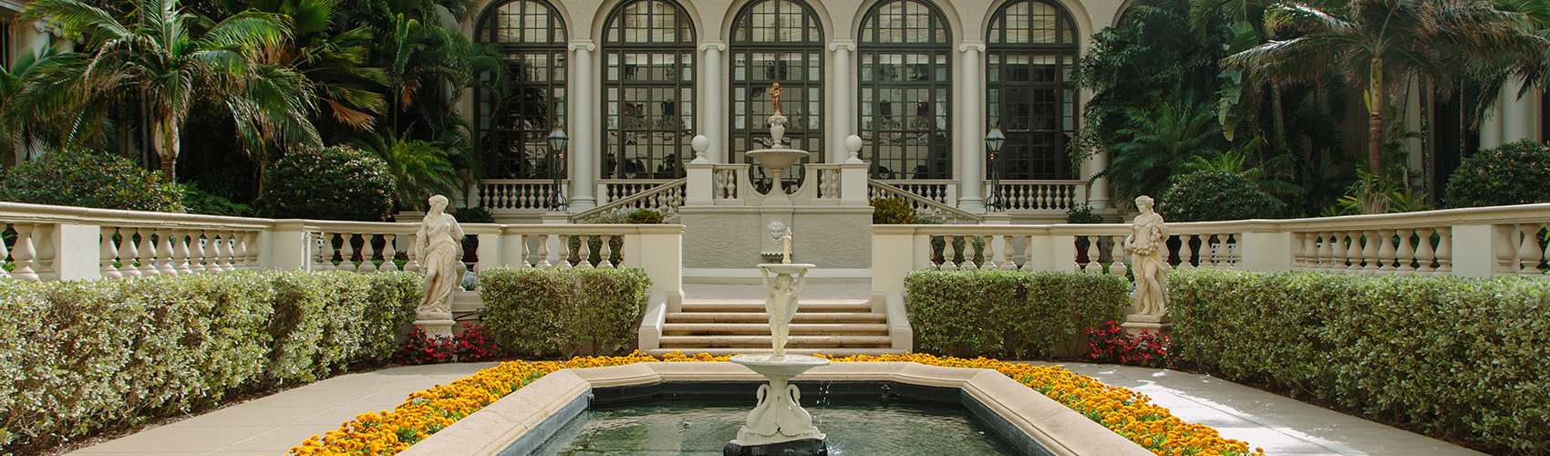 The Mediterranean Courtyard at The Breakers