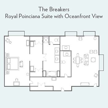 Royal Poinciana Suite with Oceanfront View Floorplan
