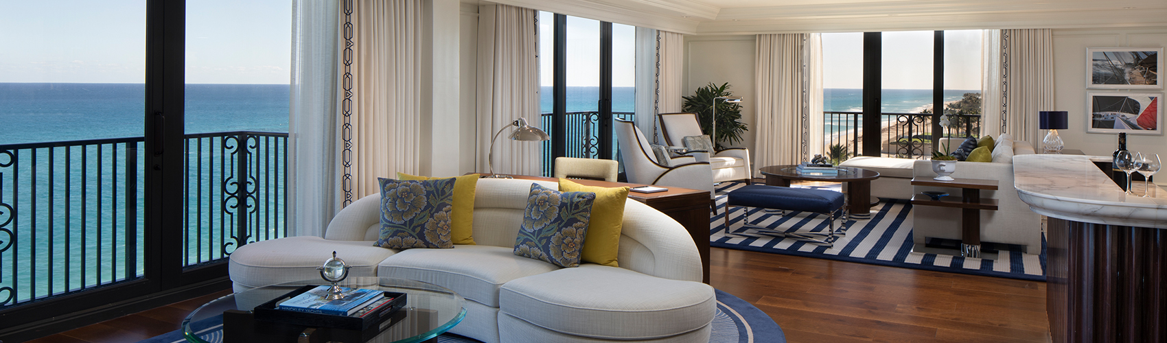 Imperial Suite with Oceanfront View Living Room