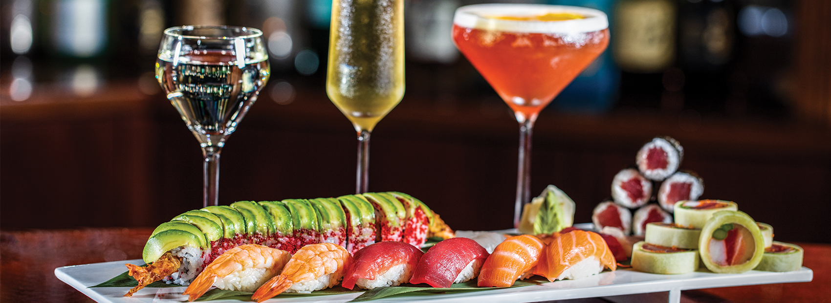 Sushi and cocktails at Echo Palm Beach