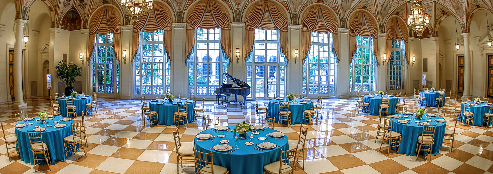 The Mediterranean Ballroom decorated for a special event at The Breakers