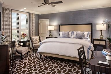 Flagler Club guest room bed