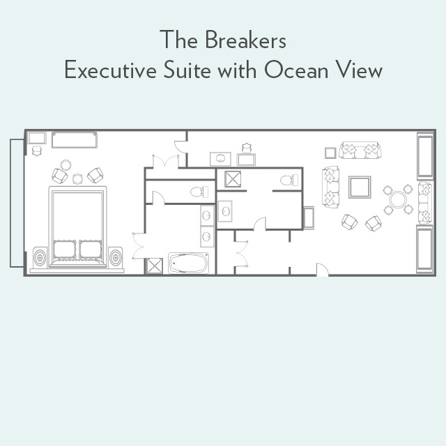 Floor plan for Executive Suite with Ocean View