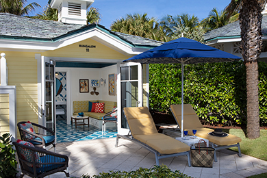 Poolside bungalows at The Breakers