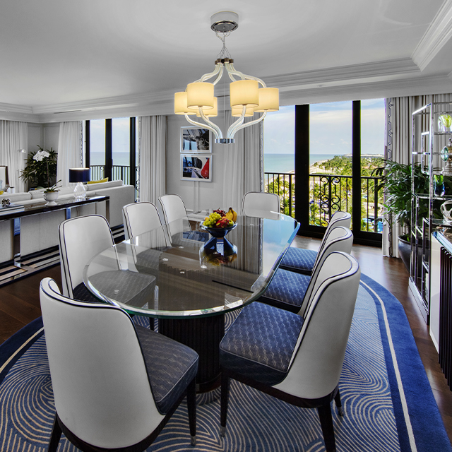 Imperial Suite with Oceanfront View Dining Room