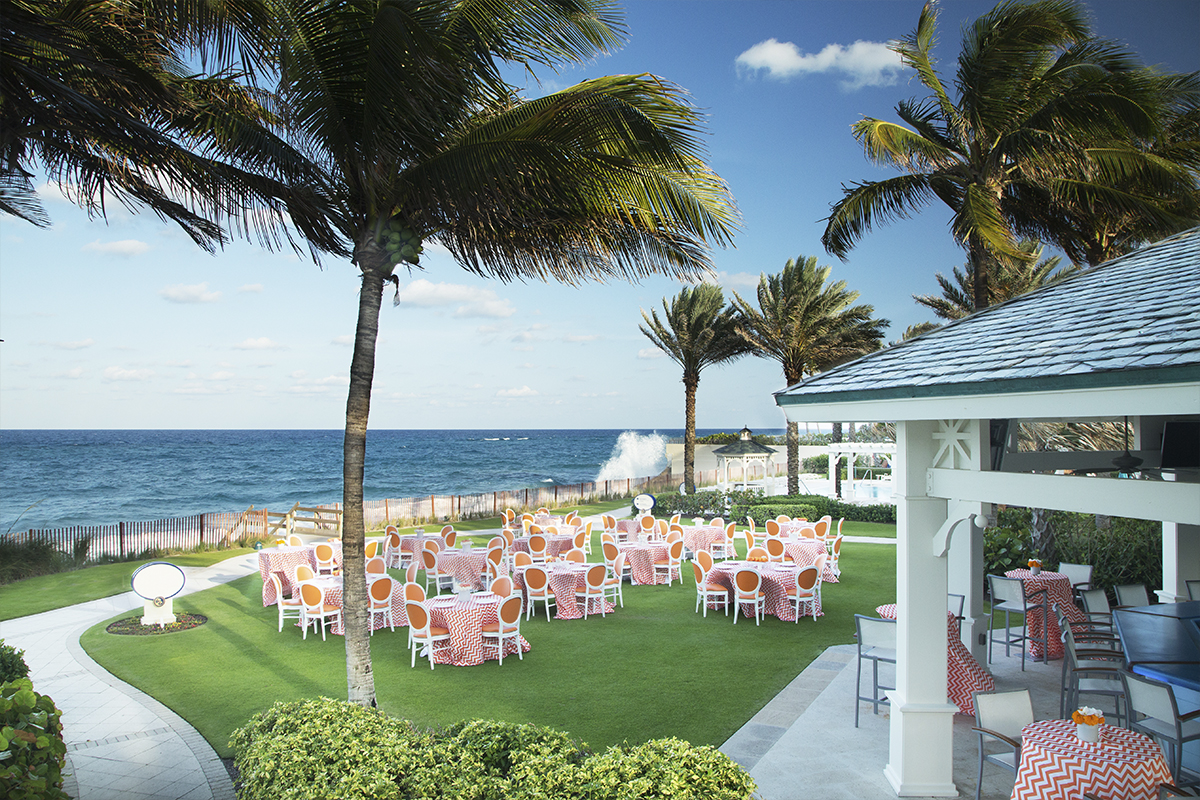 The Surf Break Lawn at The Breakers