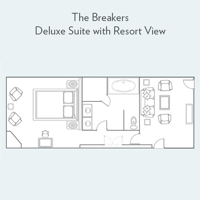 Floor plan for Deluxe Suite with Resort View