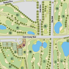 The Breakers Golf & Tennis Map
