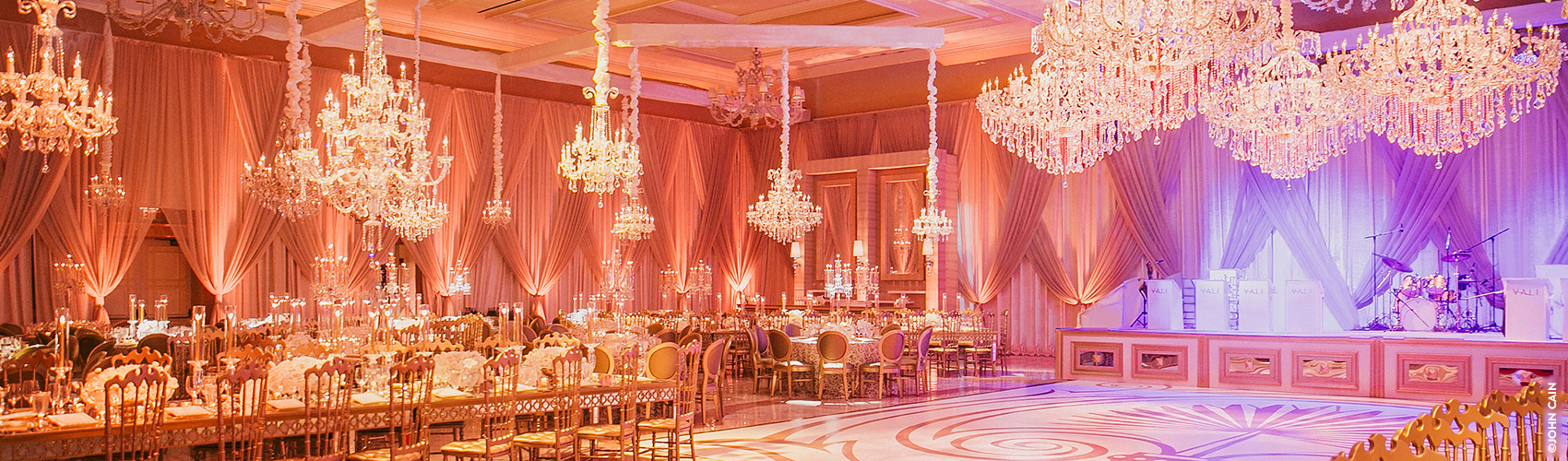 The Venetian Ballroom decorated for a special event at The Breakers
