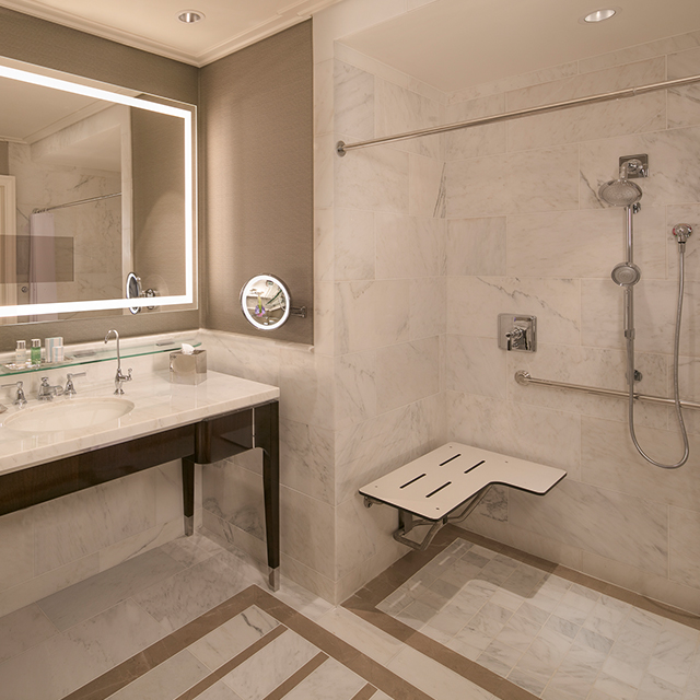 Accessible Suite Limited View Bathroom