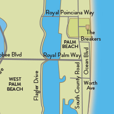 Palm Beach Map