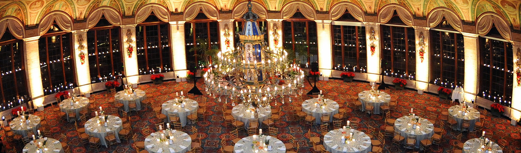 The Circle Ballroom decorated for a special event at The Breakers