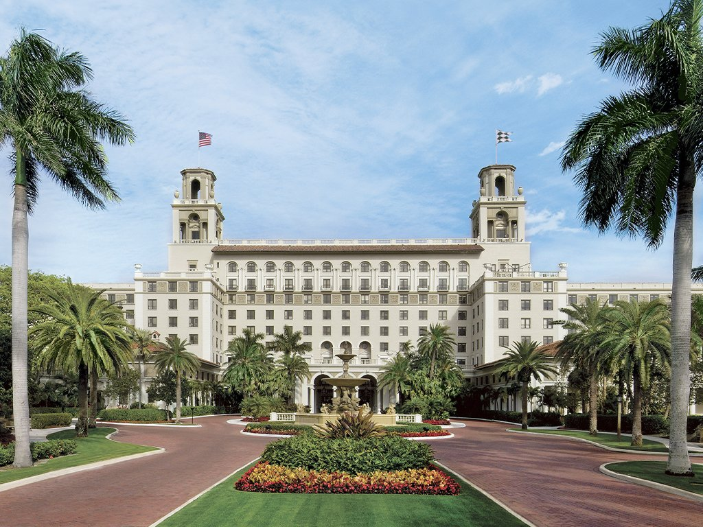 The facade of The Breakers Palm Beach