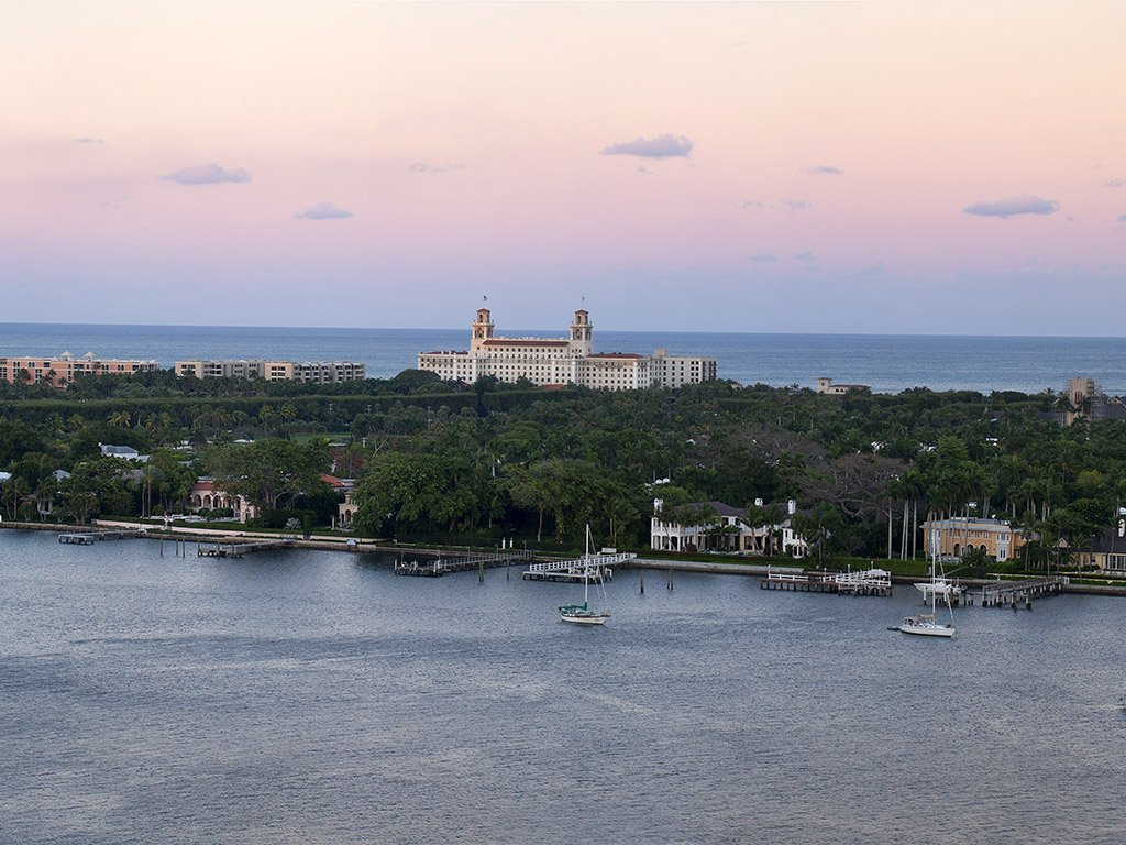Aerial view of The Breakers Palm Beach