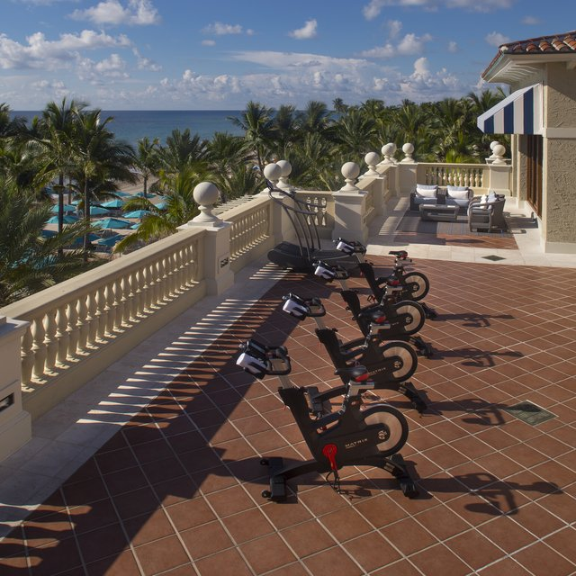 Ocean Fitness center terrace at The Breakers