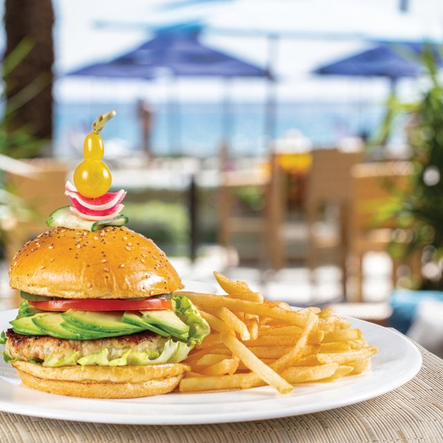 Turkey Burger at The Beach Club Restaurant at The Breakers